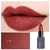 Baulody Matte Lipstick Set, Matte Velvety Liquid Lipstick Waterproof Natural Liquid Lip gloss, Long Lasting Lip Gloss Non-Stick Cup Moisturizer Liquid Lipstick (C)