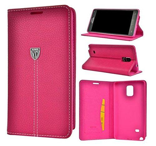 Luxus Echt Leder Handy Flip Case Cover Tasche Schutz Hülle Etui Silikon Bumper pink Für Apple IPhone 6