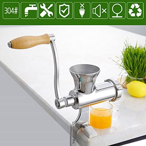 Vegetables Pomegranate Ginger etc Huanyu Manual Juicer Stainless Steel Wheatgrass Juicer Squeezer for Fruit