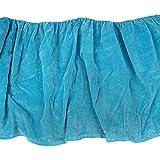 Davenport Bedding Cotton Velvet Bed-skirt - Turquoise - Twin