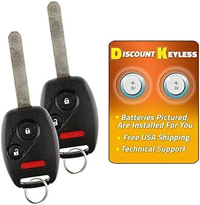 Set of 2 MLBHLIK-1T Key Fob Keyless Entry Remote fits Honda Accord//CR-V//CR-Z//Fit // Insight 2007 2008 2009 2010 2011 2012 2013 2014 2015