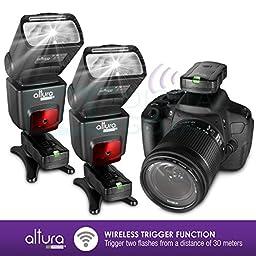 (2 Trigger Pack) Altura Photo Wireless Flash Trigger for CANON w/ Remote Shutter (Canon EOS 70D, 60D, SL1, Rebel T6i, T6, T5i, T5, T4i, T3i, T2i, T1i, T5, T3, XT, XSi, XSi DSLR Cameras)