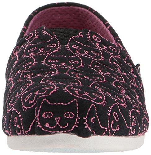 Rosado Mujer para Skechers31342 Quilted Negro Plush Kitty Bobs wxa0aq7C