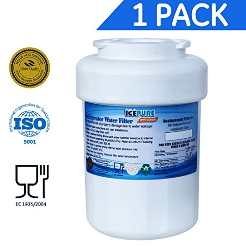 IcePure RFC0600A/RWF0600A GE MWF Smartwater Compatible Water Filter Cartridge Refrigerator