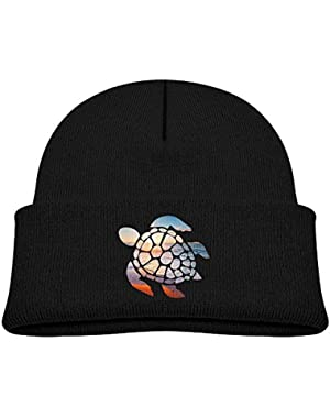 Funny Sea Turtle Printed Baby Boy Girls Winter Hat Beanie