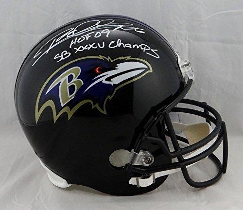 Rod Woodson Signed F/S Baltimore Ravens Helmet W/ HOF SB CHAMPS- JSA W Auth Silver