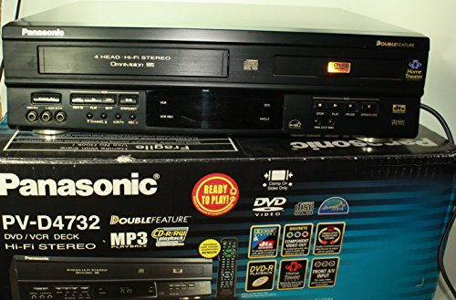 Panasonic PV-D4732 Double Feature VHS VCR Recorder DVD Combo