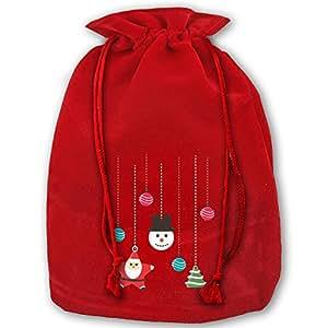 Christmas Decorations Red Velvet Drawstring Santa's Gift Sack For Christmas Wedding Gifts