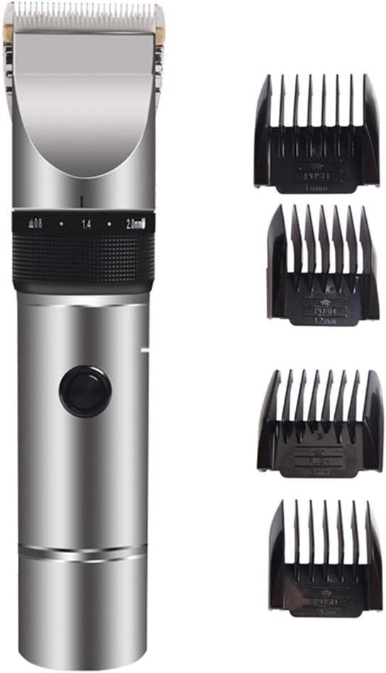 JKJ Hair Clippers Profesional Masculino - Sin Cable eléctrico del Condensador de Ajuste del Pelo, con Ajuste Fino de Tres Engranajes, 4 peines de Carrera, para el hogar/Barber Shop