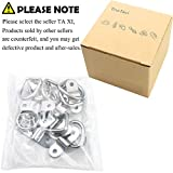 """TooTaci 10 Pack D Ring Tie Downs, 1/4"""" Heavy Duty Tie Down D- Rings Anchor Lashing Ring with Mounting Bracket for Loads on Boats,Trailers Trucks RV,Floor"""
