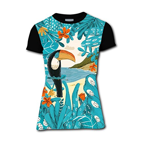 For Costume Couples Jungle Ideas (RAWWALKERONE Jungle Toucan Pecopeco T-shirts Tee T Shirt Costume for Women)
