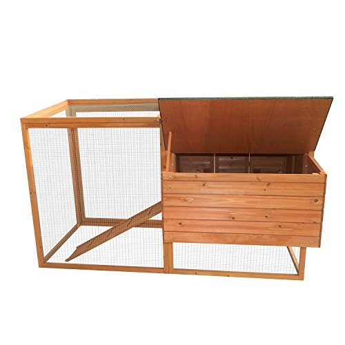 Pawhut 64'' Chicken Coop Hen House w/ Nesting Box and Outdoor Run by PawHut (Image #5)