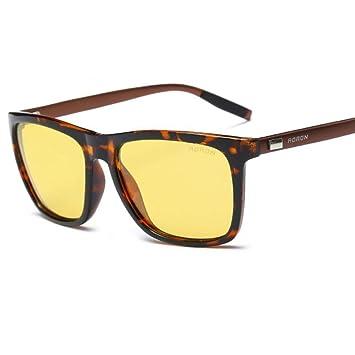 ZHRUIY Gafas de Visión Nocturna Hombre y Mujer Magnesio de Aluminio Aleación Marco 100% ProteccióN
