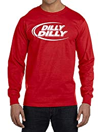 "<span class=""a-offscreen"">[Sponsored]</span>Dilly Dilly Long Sleeve Poly Cotton T-Shirt"
