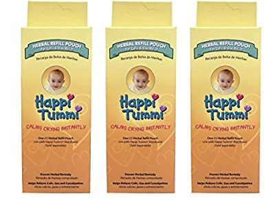 Happi Tummi Herbal Refile Pack - Relief For Infants and Babies with Colic, Gas, and Upset Tummies