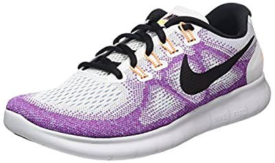 Nike Womens Flex 2017 Rn Fabric Low Top Lace Up Running, White, Size 9.5