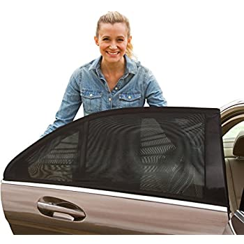 ShadeSox Universal Fit Car Side Window Baby Sun Shade (2 Pack) | Protects Your Baby and Older Kids from the Sun, Fits All (99%) Cars! Small size might not fit SUV's | Travel eBook Included!