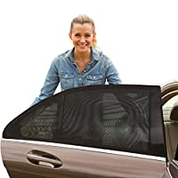 ShadeSox Universal Fit Car Side Window Baby Sun Shade (2 Pack) | Protects You...