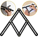 7TECH Multi Angle Finder Ruler Tool With Steel Knobs & Laser Etched Markings for Builders Handymen Craftsmen