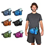 WATERFLY Hiking Waist Bag Fanny Pack with Water Bottle...