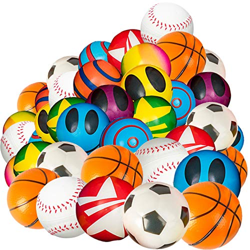 Bulk Mini Stress Ball Assortment - 50 Pack Of 2