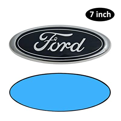 7 Inch Ford Emblem, Ford Front Grille Tailgate Emblem 3D Oval 3M Double Side Adhesive Tape Sticker Badge for Ford Escape Excursion Expedition Freestyle F150 F250 F350: Automotive