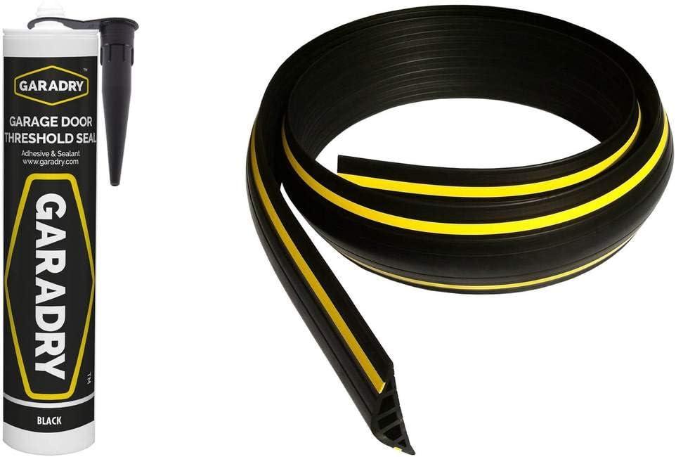 1,5 m SBD03 STEIGNER Joint d/Étanch/éit/é pour Porte de Garage Noir 52x2 mm