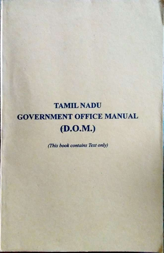 Amazon. In: buy tamilnadu government office manual (d. O. M.