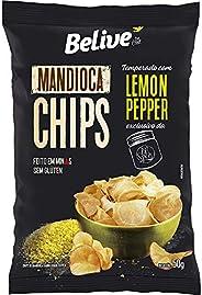 Mandioca Chips Belive temperado com Lemon Pepper BR Spices - 50g