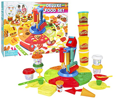 CP Toys Deluxe Modeling Dough Food Set with