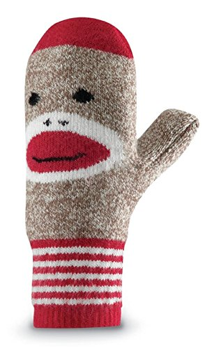 Fox River Red Heel Merino Wool Monkey Mittens, Brown Heather, One Size 9958