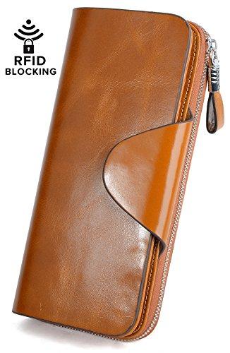 YALUXE Womens Blocking Capacity Leather