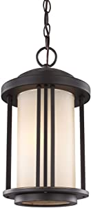 Sea Gull 6247901-71 Crowell Outdoor Pendant, 1-Light 100 Watts, Antique Bronze