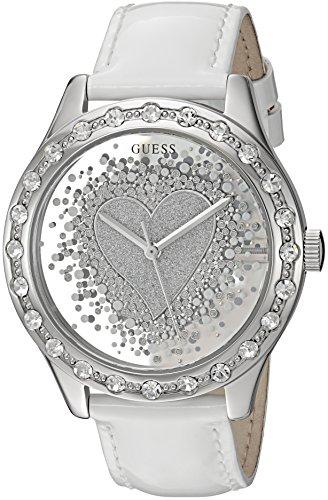 GUESS U0909L1 Silver Tone Crystal Accented Genuine