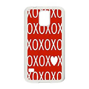 Valentine's Day Series, Samsung Galaxy S5 Case, Valentine's Day Red Case for Samsung Galaxy S5 [White]
