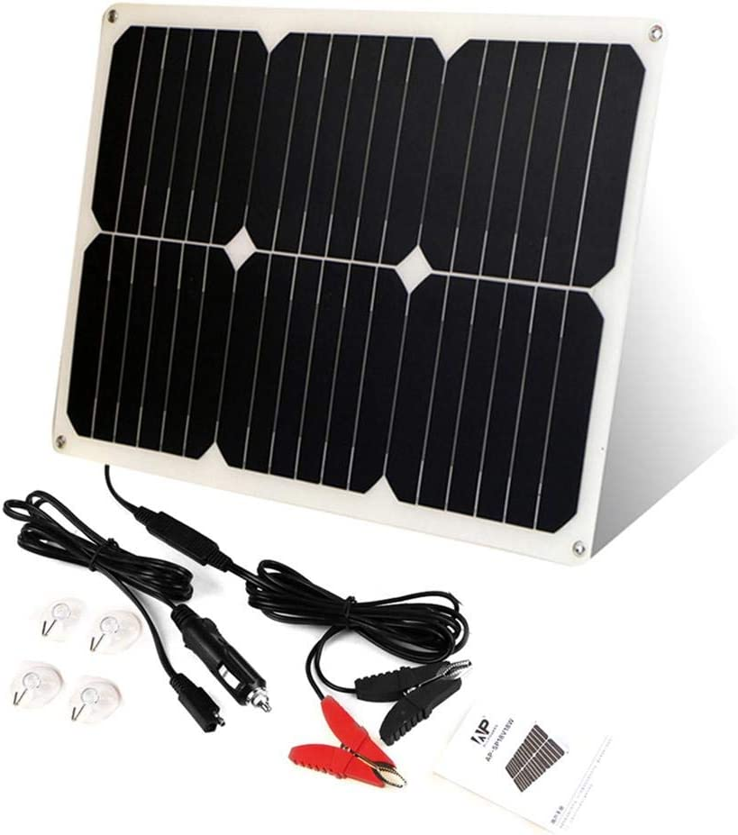 Katurn 18W Solar Panel Batterie Solar Auto Boot Power Panel Ladeger/ät Maintainer F/ür Automobile Motorcycle Tractor Boat