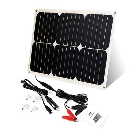 Nishci Mantenedor de la batería Solar, Cargador de batería ...