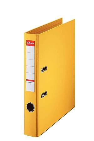 Esselte archivador 40ST amarillo, espesor 2-agujero, archivadores, A4 tamaño correspondencia,