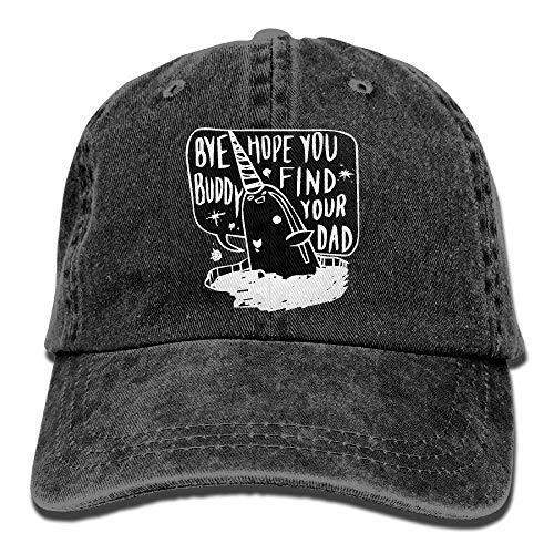 (QKBUY Bye Buddy Hope You Find Your DadAdjustable Unisex Baseball Cap Snapback Hat Cotton Denim Cap)