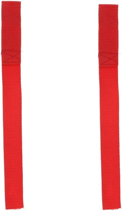 H HILABEE 2x Heavy Duty Red Winch Hook Pull Strap Protective Loops Towing Rope 2 inch 50mm Wide ATV UTV Truck Accessory