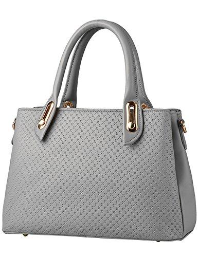 Menschwear Sac fourre-tout en cuir brillant Nouveau sac à bandoulière pour femme Rose 1 Gris