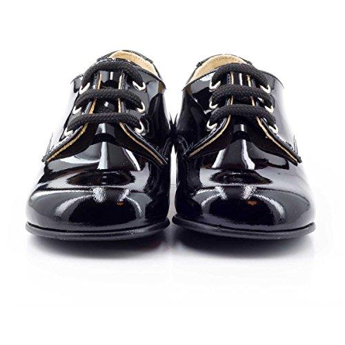Boni Classic Shoes - Zapatos primeros pasos de Otra Piel para niña Vernis Noir