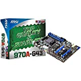 MSI Computer Corp. Socket AM3+ AMD 970 DDR3 SATA3 and USB 3.0 A&GbE ATX Motherboard 970A-G43