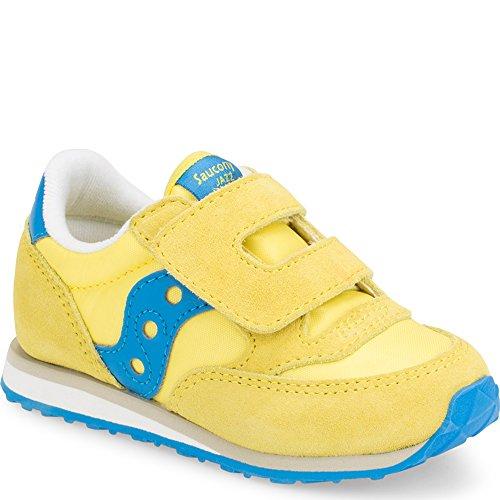 Saucony Boys' Baby Jazz HL Sneaker, Yellow/Blue, 10.5 Medium US Little Kid