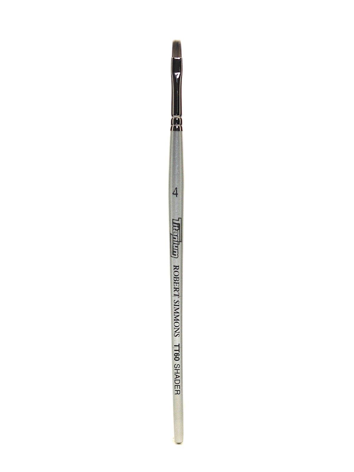 Robert Simmons Titanium Brushes Short Handle Single Stock 4 flat shader TT60 [PACK OF 2 ]