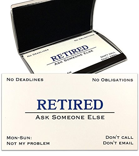 Out of Business Cards - Funny Retirement Gift - Cards With Stainless Steel Case For Retired Men, Women, Coworkers, Employees, Boss, Friend, -