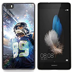 "Qstar Arte & diseño plástico duro Fundas Cover Cubre Hard Case Cover para Huawei Ascend P8 Lite (Not for Normal P8) (89 NFL jugador"")"