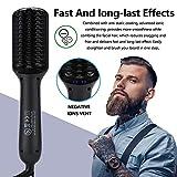DUEBEL Beard Straightener for Men Ionic Heated