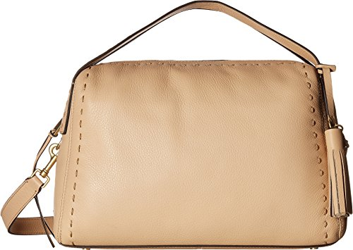 Cole Haan Womens Ivy Pic Stitch Satchel Nude One Size by Cole Haan
