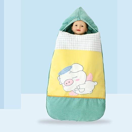 WTFYSYN Saco de Dormir de Algodón Unisex para Bebés,Bebé algodón otoño e Invierno Grueso Saco de Dormir, Cuatro Estaciones cálido recién Nacido edredón Verde: Amazon.es: Hogar